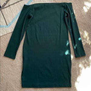 H&M Ribbed Off-shoulder Dress